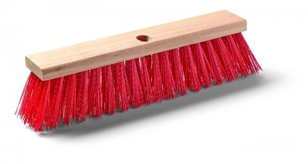 Straßenbesen aus rotem Elastan mit Stielloch 40cm