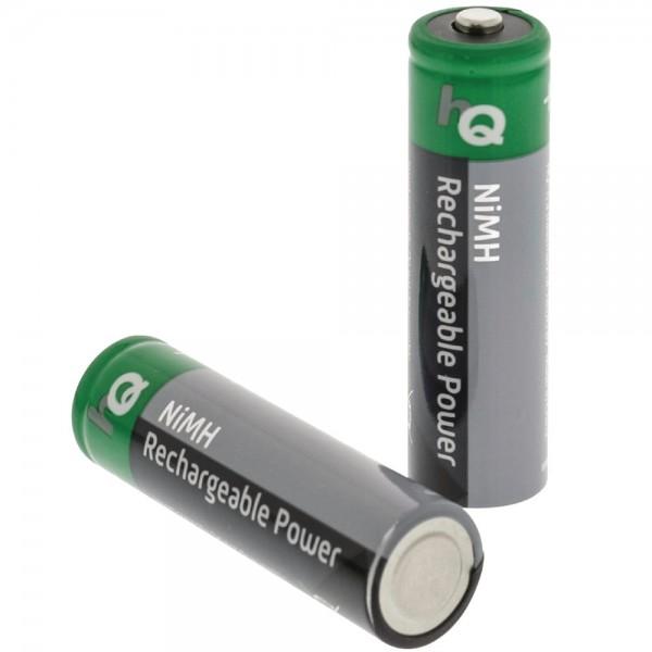 2x Power Accu Wiederafladbare Batterie AA Akku HR6 NiMH