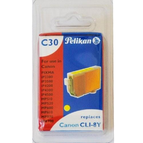 Pelikan C30 Druckerpatrone CLI- 8Y für Canon Drucker ersetzt Original Patrone