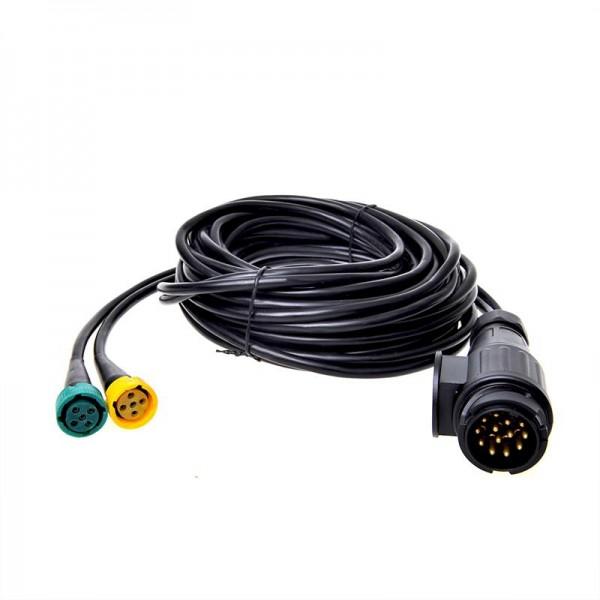 Kabelsatz 7M mit Stecker 13-polig und 2x Steckverbinder 5-polig für Anhänger Rückleuchte rechts & li