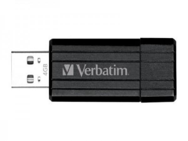 USB FlashDrive 64GB Verbatim PinStripe (Schwarz/Black) Blister 49065 für PC Computer Laptop Noteboo