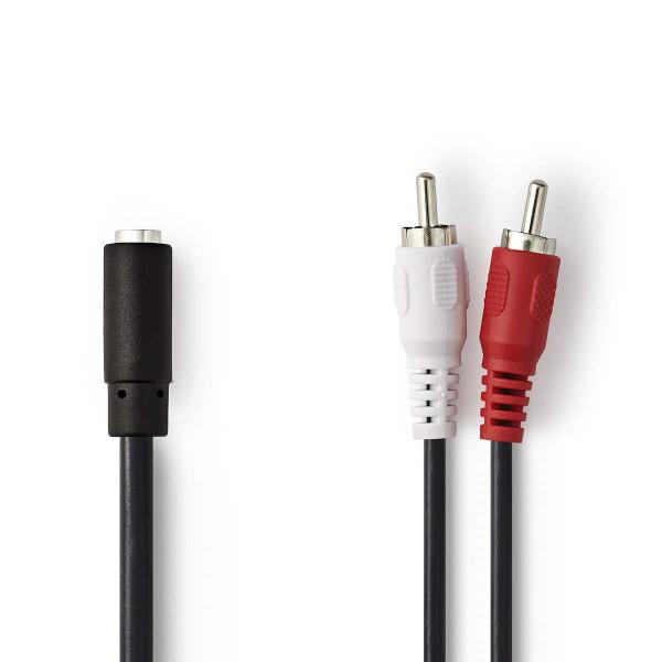 Audio Kabel Adapterkabel 2x Cinch Stecker auf 1x 3,5mm Klinkenbuchse