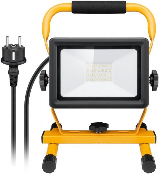 LED Baustrahler Außen-Flutlichtstrahler IP65 30W Arbeitsleuchte mit Standfuß