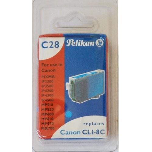 Pelikan C28 Druckerpatrone CLI- 8C für Canon Drucker ersetzt Original Patrone
