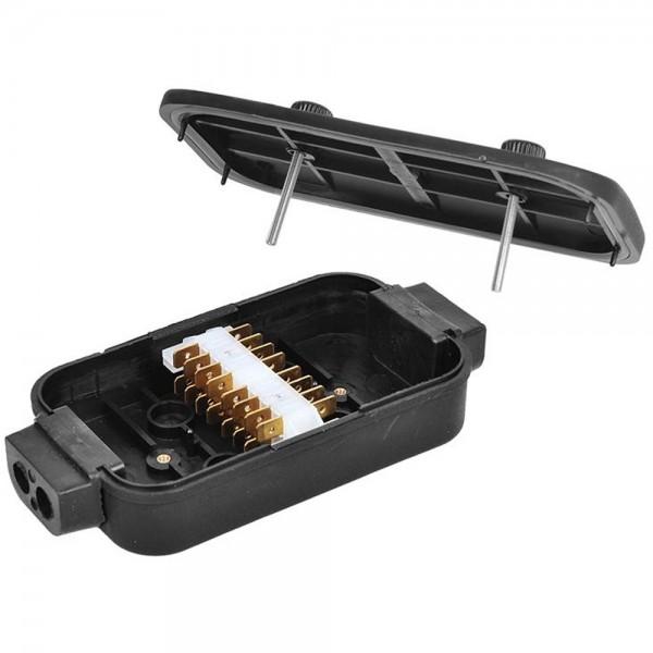 Verteilerdose elektrik 8x4-polig Kabelanschlusskasten für Anhänger Wohnmobil
