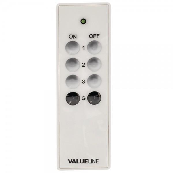 Fernbedienung für Funksteckdose Steckdosen Funk Schalter CEE 7/3 Weiß