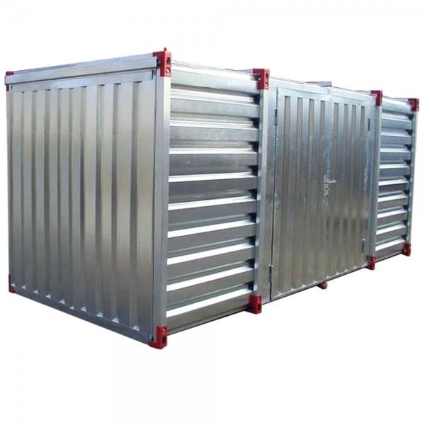 6m Lagercontainer Baucontainer Container mit Doppelflügeltür Lange Seite