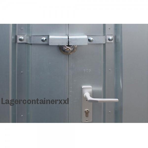 Einbruchsicherung - Doppelflügeltür für Materialcontainer