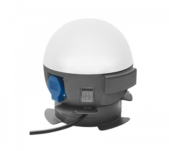 Future Ball LED 360° Lampe mit integrierter 2x Steckdose