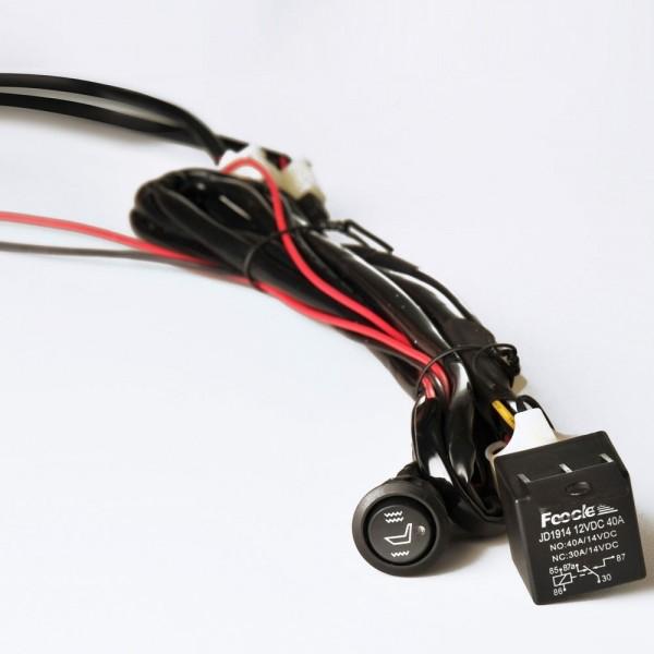 2 Stufen Schalter Rund mit Kabelsatz für LKW BUS Sitzheizung Nachrüstsatz 24V