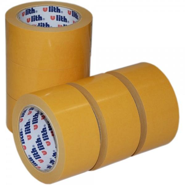 6x Beidseitiges Klebeband Verlegeband Doppelseitiges Teppichband 50mm x 25m