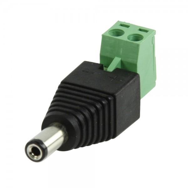DC Stecker Adapter mit Steck Lüsterklemme für DC Netzteil