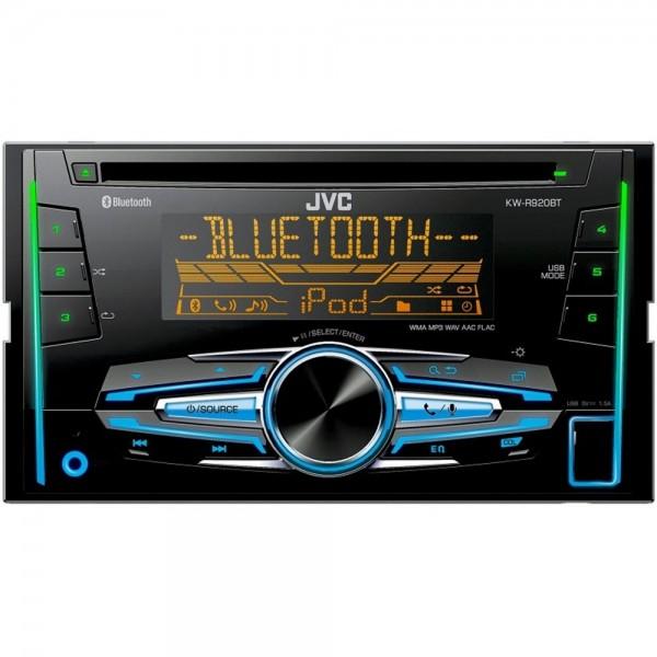 KFZ Autoradio JVC KW-R920 2 DIN CD MP3 USB Aux Freisprecheinrichtung