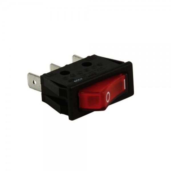 Universal Netzschalter Schalter 1 pol. 250v - 16A mit Signallampe rot