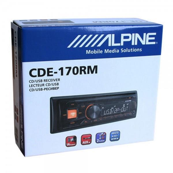 KFZ Autoradio Alpine CDE-170RM 1-DIN mit CD MP3 USB AUX -In Amber