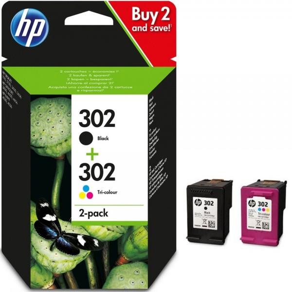 Original HP 302 X4D37AE Druckerpatrone Schwarz & Farbe für HP Drucker