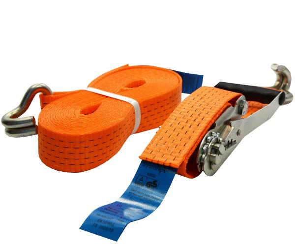 Spanngurt orange mit Ratsche 50mm auf 8 Meter Zurrgurt für Ladungssicherung 2500daN