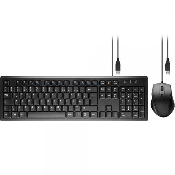 USB Tastatur Maus Set Keyboard QWERTZ für PC Computer