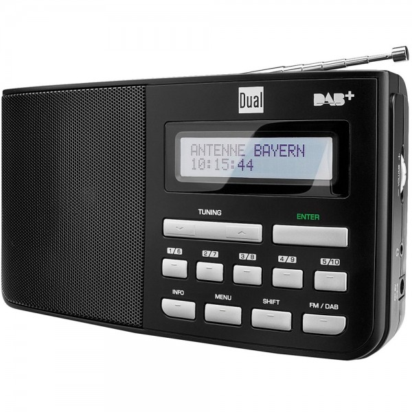 Dual DAB 5.1 Kofferradio Digitalradio DAB+ UKW Radio Empfang tragbar Schwarz