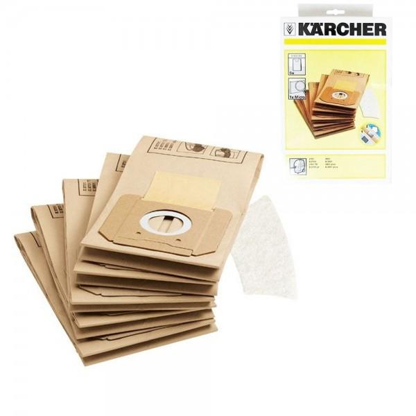 5x Filtertüten Staubsaugerbeutel Staubbeutel Für Kärcher Staubsauger