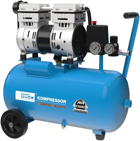 Güde Kompressor Airpower 150/8/24 SILENT Werkstattkompressor ölfrei Kolbenkompressor