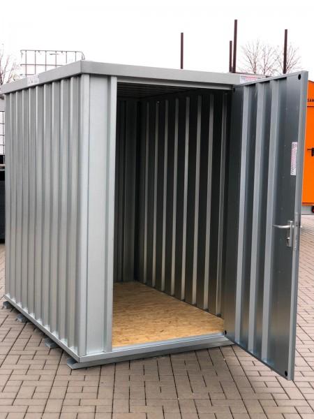 1,5m Materialcontainer-Baucontainer mit Einflügeltür, Kranösen und Staplerführung 2,10 x 1,50 x 2,10