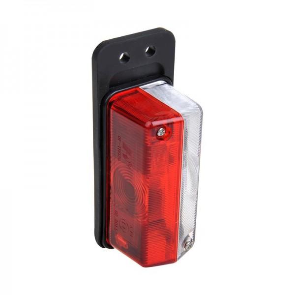Umrissleuchte rot/weiß 92x42mm mit Pendel Begrenzungsleuchte 12V für Anhänger