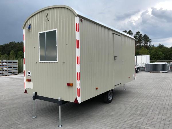 Baustellenwagen 25km/h Bauwagen mit Einrichtung -500cm/220cm/230cm-LKW Zugöse