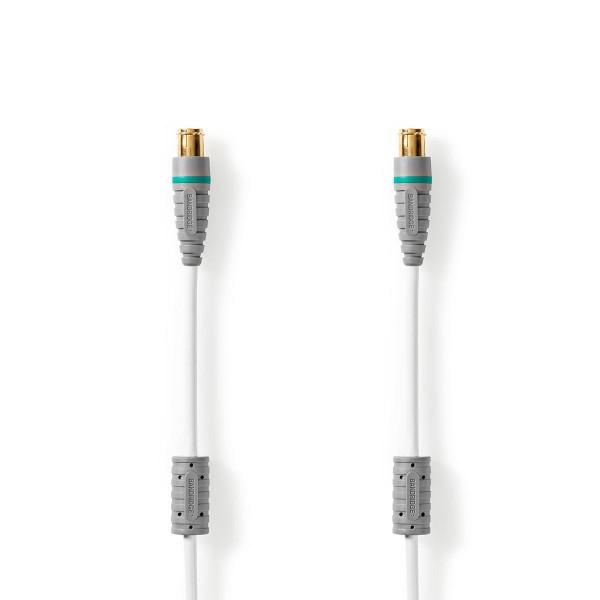 3m TV Antennenkabel F-Stecker Quick - F-Stecker Quick für Fernseher Satellitenanschluss weiss