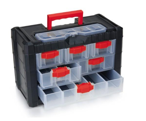 Werkzeugkiste Sortimentskasten Kleinteilemagazin Organizer 400x200x260mm