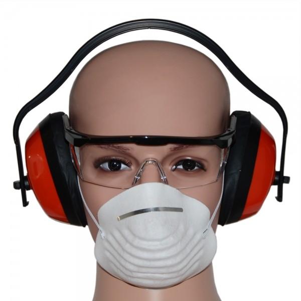 Arbeitsschutz Gehörschutz Schutzbrille Atemschutz Sicherheitsset 3-teilig