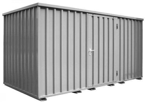 4m Baucontainer mit Einflügeltür, Kranösen und Staplerführung