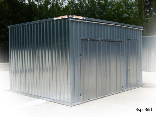 Leichtbauhalle - Lagerhalle mit Einflügeltür (BxLxH) 4330 x 5100 x 2100