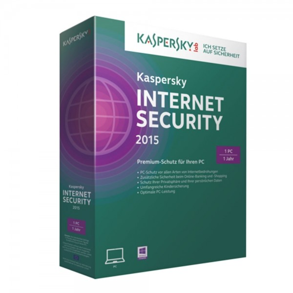 Kaspersky Internet Security 2016 Software 1 Jahr 1 PC