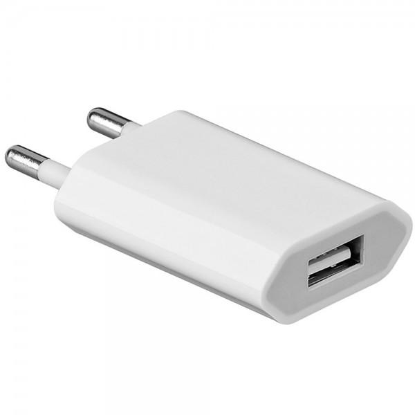 Steckdose Ladegerät Netzteil USB Reise- Ladeadapter 230V auf USB weiss
