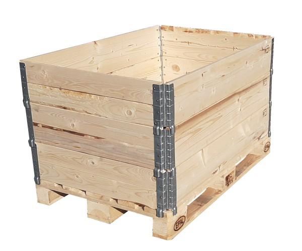 3x Aufsatzrahmen Holzaufsatzrahmen Palettenrahmen Hochbeet faltbar Pflanzenbeet 1200x800x195 mm