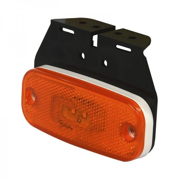 Seitenmarkierungsleuchte 10-30V orange 110x45mm LED mit Halter für Anhänger Wohnmobil Bauwagen