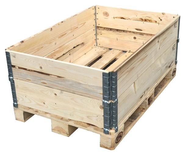 2x Aufsatzrahmen Holzaufsatzrahmen Palettenrahmen Hochbeet faltbar Pflanzenbeet 1200x800x195 mm