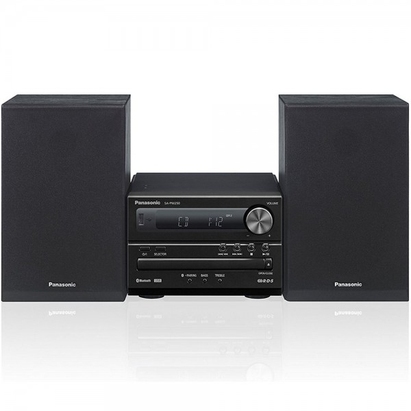 Panasonic SC-PM250EG-K Micro HiFi Stereoanlage USB MP3 Radio CD Bluetooth