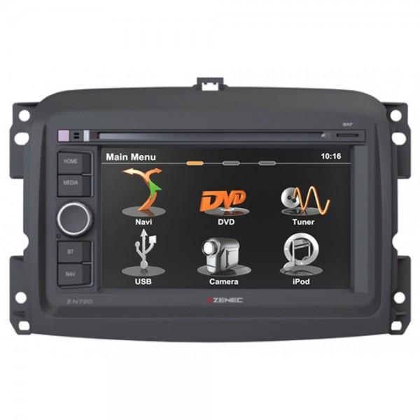 KFZ Autoradio Zenec 2-DIN CD DVD USB Navi Freisprecheinrichtung für Fiat 500L