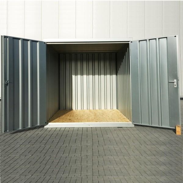 3m Schnellbaucontainer- mit Doppelflügeltür und Kranösen 3100 x 2100 x 2100 mm