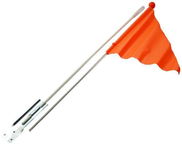 Fahrrad Fahne Sicherheit für Radfahrer orange 1130mm