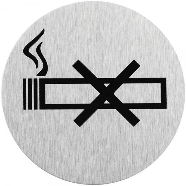 Türschild Hinweisschild Bild nicht Rauchen Schild Alu Ø75mm rund