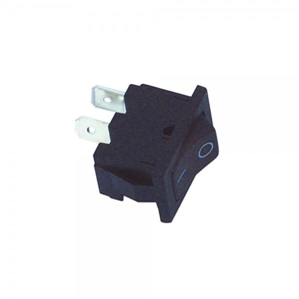 Universal Netzschalter Schalter Mini-Wippschalter 1 pol. 250V - 3A Schwarz