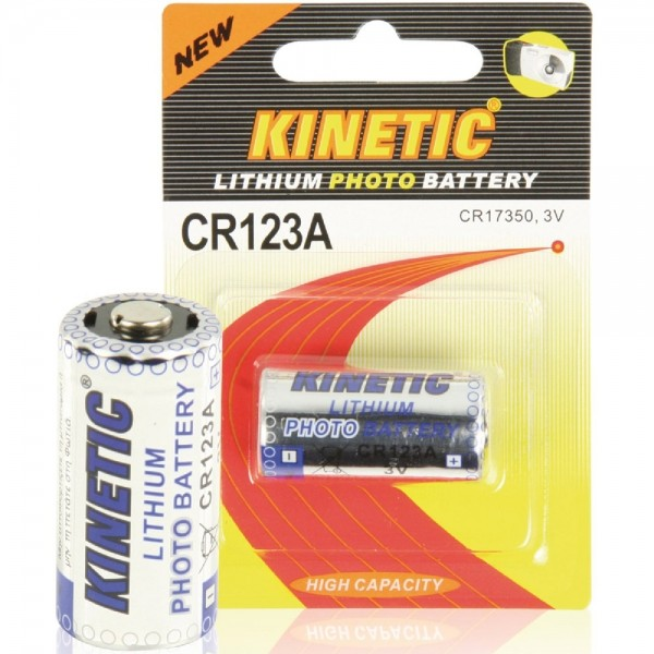 Kinetic Lithium Photo Batterie CR123A / CR17350 3V 1200mAh