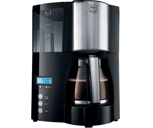 Melitta Kaffeemaschine Kaffee Schwarz 850W mit Timerfunktion LED-Anzeige