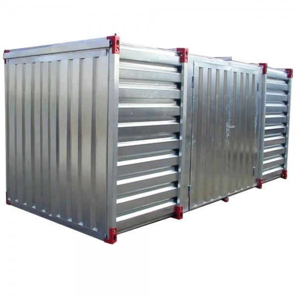 4m Lagercontainer Baucontainer Container mit Doppelflügeltür Lange Seite