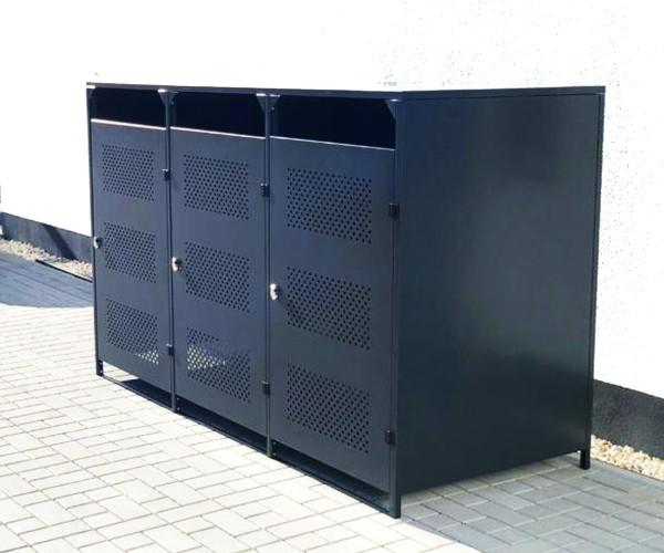 Mülltonnenbox Box Müllcontainer für 3 Mülltonnen ca 240l