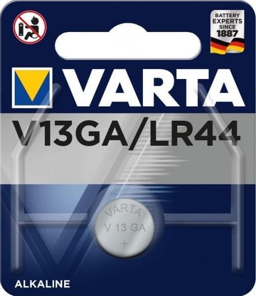 Varta Alkaline Batterie Knopfzelle V13GA LR44 1,5V 145mAh AG13 L1154