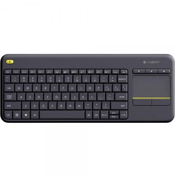 Logitech Funk Tastatur K400 Plus Deutsch mit Touchpad für Smart TV PC Notebook